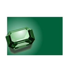 emerald vector image vector image