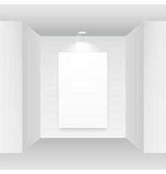 empty picture frame on white background vector image vector image