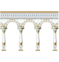 facade with ornament vector image