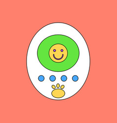 flat icon design collection tamagotchi pets vector image vector image