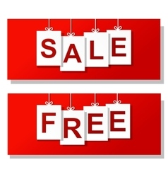 free sale horizontal banners vector image vector image