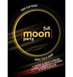 Full moon beach party flyer design eps 10 vector