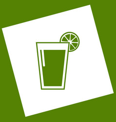 Glass of juice icons white icon obtained vector