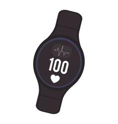 Heartrate wrist monitor icon vector