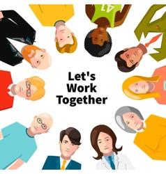 International group of people working in team vector