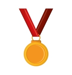 Isolated winner medal design vector