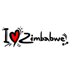 Love zimbabwe vector