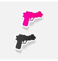 realistic design element gun vector image