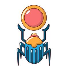 scarab icon cartoon style vector image