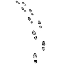 Trail of shoes prints vector