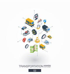 transportation integrated 3d web icons digital vector image vector image