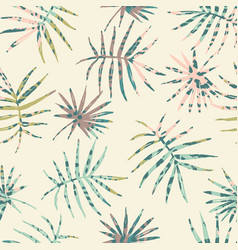 trendy seamless exotic pattern with palm and vector image vector image