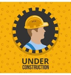 Under construction poster vector