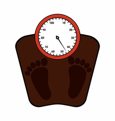 weight measure vector image