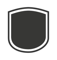 Shield seal frame icon vector