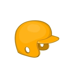 Baseball helmet icon cartoon style vector image
