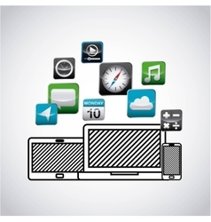 App store technology icons vector