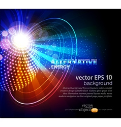 abstract background with ball vector image