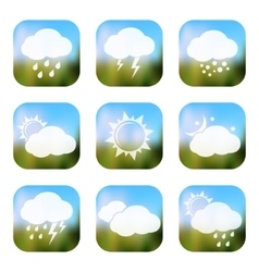 Weather apps icons vector