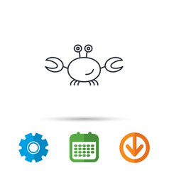 Crab icon cancer shellfish sign vector