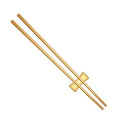 Wooden chopsticks in light brown design vector