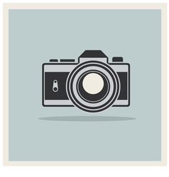 Dslr professional camera icon vector