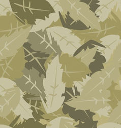 Camouflage leaves vector