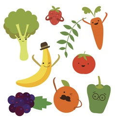 Vegetable food cartoons vector