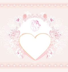 Valentine stylish card vector