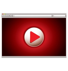 Internet video web vector