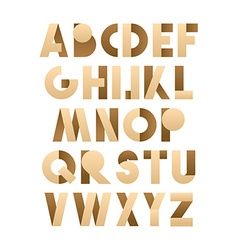Retro font in brown and beije brown alphabet vector