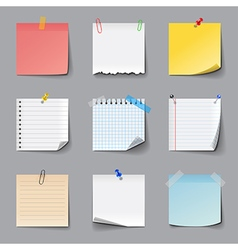 Post it notes icons set vector