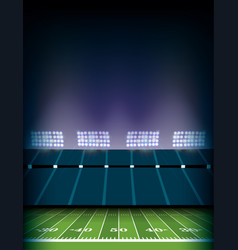 American football field stadium background vector