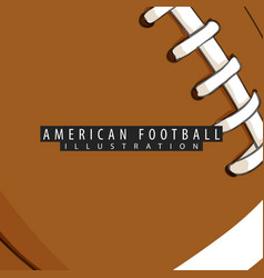 background of the ball for american football vector image vector image