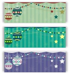 Christmas balls flyers set vector