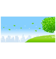City skyline tree vector