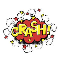 crash phrase in speech bubble comic text bubble vector image vector image