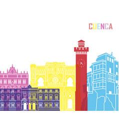 Cuenca skyline pop vector