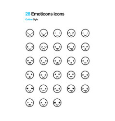 emoticon icons vector image vector image