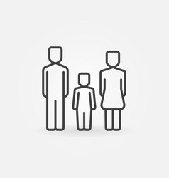 family with one child icon vector image