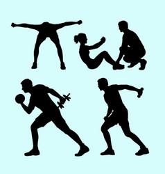 Fitness sport silhouette vector