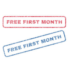 Free first month textile stamps vector