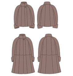 Fur coat vector