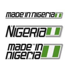 made in nigeria vector image
