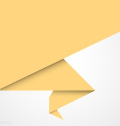 Paper origami banner vector image