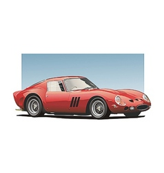 red sportscar vector image vector image
