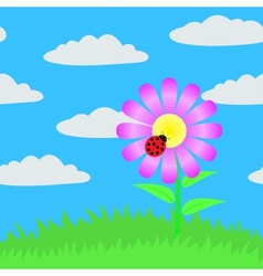 Seamless picture of a flower vector image