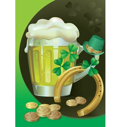 St Patricks Green Beer vector image vector image