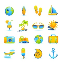 Summer Vacation Set vector image