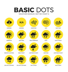 weather bonus flat icons set vector image
